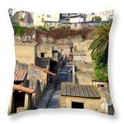 Herculaneum Ruins Throw Pillow