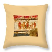 Herculaneum Wall Painting Throw Pillow
