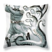 Hercules Of The Union, 1861 Throw Pillow