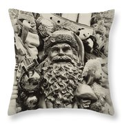 Here Comes Santa Claus Throw Pillow