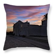 Here Goes The Sun Across The Atlantic Throw Pillow