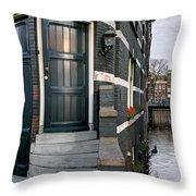 Herengracht 395 Bis. Amsterdam Throw Pillow