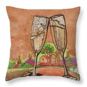 Heres To Ya No8 Throw Pillow