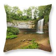 Herisson Waterfalls Throw Pillow