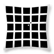 Hermann-hering Illusion Throw Pillow