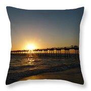 Hermosa Beach Sunset Throw Pillow