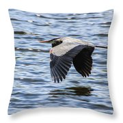 Heron Over Water Throw Pillow