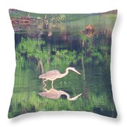 Heron Reflections1 Throw Pillow