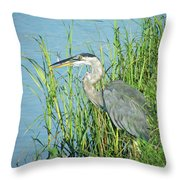 Heron Rockefeller Wma La Throw Pillow