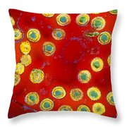 Herpes Virus Throw Pillow
