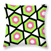 Hexagon Throw Pillow by Louisa Knight