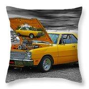 Hi-powered Dodge Abstract Throw Pillow