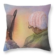 Hiawatha's Hair Throw Pillow