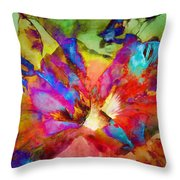 Hibiscus Abstract Throw Pillow