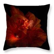 Hibiscus Glow Throw Pillow