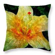 Hibiscus Hiwc Throw Pillow