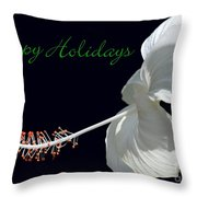Hibiscus Holiday Card Throw Pillow