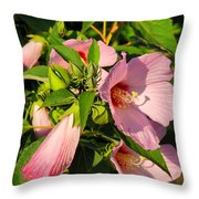 Hibiscus In Summer Throw Pillow