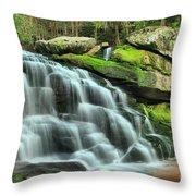 Hidden Elakala Falls Throw Pillow