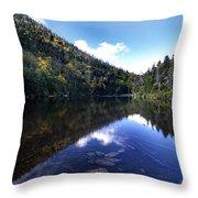 Hidden Mountain Pond  Throw Pillow