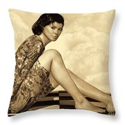 Hidden Secrets - Sepia Throw Pillow