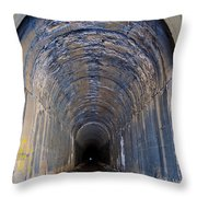 Hidden Tunnel Throw Pillow by Fran Riley