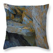 Hieroglyphics Of The Sea Throw Pillow