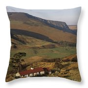 High Angle View Of A House, County Throw Pillow