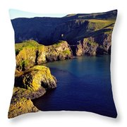 High Angle View Of Rock Formations In Throw Pillow