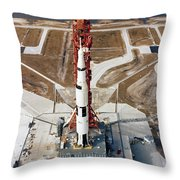 High-angle View Of The Apollo 10 Space Throw Pillow