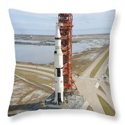 High Angle View  Of The Apollo 14 Space Throw Pillow