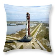 High Angle View  Of The Apollo 14space Throw Pillow