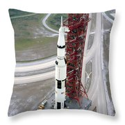 High Angle View  Of The Apollo 15 Space Throw Pillow