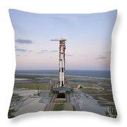 High-angle View Of The Apollo 8 Throw Pillow