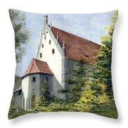 High Castle Courtyard Throw Pillow