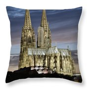 High Cathedral Of Sts. Peter And Mary In Cologne Throw Pillow