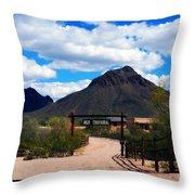 High Chaparral Ranch Throw Pillow
