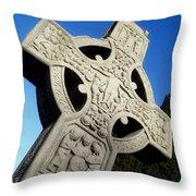 High Cross, Monasterboice, Co Louth Throw Pillow