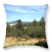 High Desert Landscape Throw Pillow