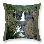 High Falls Grand Portage Throw Pillow