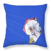 High Flying Character  Throw Pillow