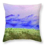 High Green Pastures  Throw Pillow