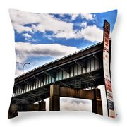 High In The Skyway Throw Pillow