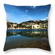 High Mountain Paradise Throw Pillow