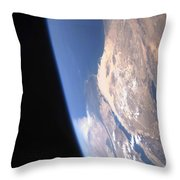 High Oblique Scene Looking Throw Pillow by Stocktrek Images