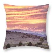 High Park Fire Larimer County Colorado At Sunset Throw Pillow