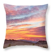 High Park Wildfire Sunset Sky Throw Pillow