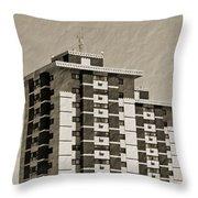 High Rise Apartments Throw Pillow