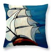High Sea Throw Pillow