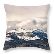 High Sierra Mountains Throw Pillow